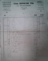 H 2 Facture/document Entete  Graines/ Ou Fourrages/ Ou Pommes/ Ou Engrais/alimentation Volaille à La Poiteviniere - Agricultura