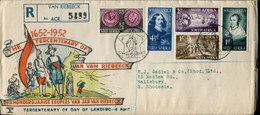 South Africa Südafrika Mi# 224-8 Used On Letter Or FDC -  Jan Anthoniszoon Riebeeck - Settlers From Netherlands - FDC
