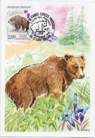 Nature De France L'OURS DES PYRENEES. Timbre. Carte 1er Jour 14 Sept. 1991 St LARY SOULAN - TBE - Bears