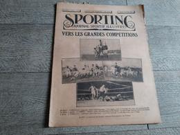 Sporting Journal Sportif Illustré 1925 Grandes Compétitions Rugby Boxe Paolino Breitenstraetter Salon Automobile Belge - Sport
