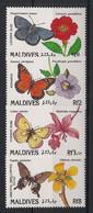 Maldives - 1991 - N°Yv. 1368 à 1371 - Papillons / Butterflies - Neuf Luxe ** / MNH / Postfrisch - Mariposas