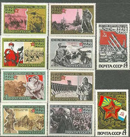 Е150 USSR 1968 3513-3522 (3604-3622) 50 Years Of The USSR ARMED FORCES - Unused Stamps