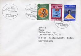Luxembourg Premier Jour Lettre FDC Cover 1978 Mi. 972-74 Solidarite Complete Set !! - FDC