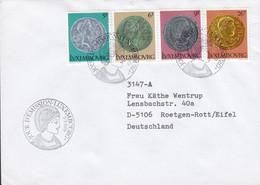 Luxembourg Premier Jour Lettre FDC Cover 1979 Alte Römische Münzen Old Roman Coins Pieces Complete Set - FDC