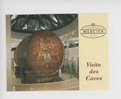 """Ticket - Visite Des Caves """"Champagne Mercier à Epernay"""" Caveau Bacchus Et Pavillon Mercier (10,5X8) - Eintrittskarten"""