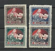 LATVIA Lettland 1921 Michel 65 - 68 Z * - Lettland