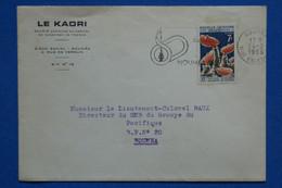 Q11 NOUVELLE CALEDONIE BELLE LETTRE 1966 NOUMEA RUE VERDUN+ AFFRANCH. PLAISANT - Covers & Documents