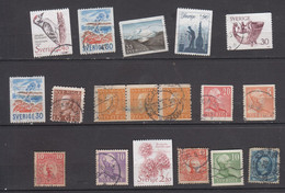 SUEDE LOT DE 17 TIMBRES ° - Used Stamps