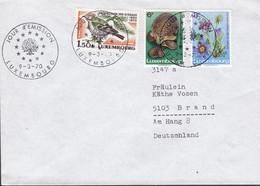 Luxembourg Premier Jour Lettre FDC Cover 1970 Naturschutz Igel Hedgehog Bird Vogel Oiseau Complete Set - FDC