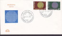 Luxembourg Premier Jour Lettre FDC Cover 1970 Europa CEPT Complete Set - FDC
