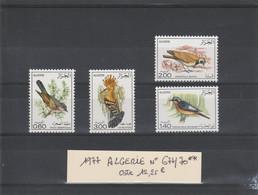 ALGERIE 1977  THEME FAUNE OISEAUX N° 677 / 670 ** - Algeria (1962-...)