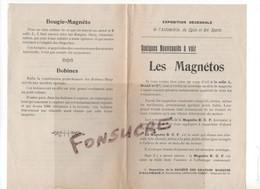 Publicité Les MAGNETOS B C F à L'Exposition Décénnale Automobile Cycle Sports Accumulateur Bougie Bobine Lampe De Mine - 1900 – 1949