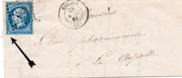 BUSTA AFFRANCATA FRANCOBOLLI FRANCIA STORIA POSTALE - 1 - 1849-1876: Classic Period