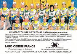 CYCLISME: CYCLISTE : GROUPE UC SAYAT - Cycling