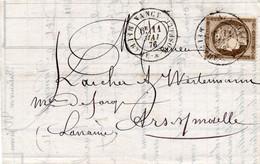 BUSTA AFFRANCATA FRANCOBOLLI FRANCIA STORIA POSTALE - 12 - 1849-1876: Klassik