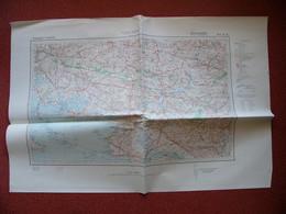 Carte état Major Armée Allemande WW II Vannes Quiberon Morbihan Redon La Baule Saint Nazaire Auray Josselin ORIGINALE - 1939-45