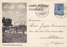 Luxembourg Postal Stationery Ganzsache Entier ESCH-SUR-ALZETTE Bassin Minier Cachet Charlotte GREVENMACHER 1939 Belgium - Stamped Stationery