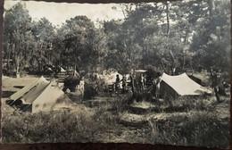 CPSM (format Cpa), Claouey (Lège-Cap-Ferret - 33 Gironde) Village De Campeurs (animée) Bassin D'Arcachon - Andere Gemeenten