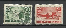 FINLAND FINNLAND 1938 Michel 213 & 215 O - Usati