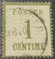 Alsace Loraine N° 1b  Avec Oblitération Cachet à Date D'Epoque, Signé Calves Vendu à -18% De La Cote  TTB - Alsace-Lorraine