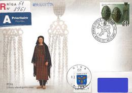 Latvia Lettland Lettonie 2007 (16) Liv Archeological Jewelery (addressed FDC) - Lettland