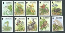 Alderney  -  Yvert  N° 65, 66,68,71,72,73,74,76,79,80  **  10 Valeurs Neuves Sans Charnière - PAL 6703 - Alderney