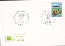 Luxembourg Sonderstempel '50 Joer Letzeburge Scouten' SANDWEILER 1969 Card Carte EUROPHIL Cachet Scouts Pfadfinder - Covers & Documents