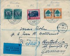 1932 AFRICA DEL SUDOESTE , PRIMER VUELO / FIRST FLIGHT , CERTIFICADO DE WINDHOEK A ROSTOCK , TRÁNSITO DE PARIS , LLEGADA - África Del Sudoeste (1923-1990)