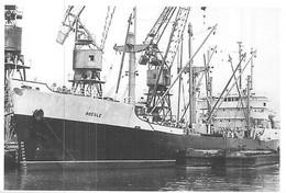 """Photo Bateau  """" Bresle  """" Pocket Liberty 1946 Tampa USA Ex """" Marline Bend """"  C.G.T Compagnie Générale Transatlantique - Bateaux"""