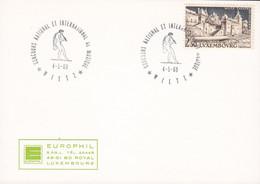 Luxembourg Sonderstempel 'Concours National Et International De Musique' WILTZ 1969 Card Carte EUROPHIL Cachet - Covers & Documents