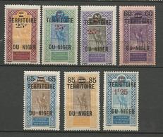NIGER Série Complète N° 18 à 24 NEUF**  SANS CHARNIERE / MNH - Unused Stamps