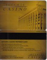 TURKEY - Artemis Casino, Casino Member Card, Used - Tarjetas De Casino