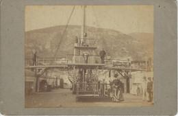 MARINS BATEAU PASSERELLE PHOTOGRAPHIE ORIGINALE ANCIENNE COLLEE SUR CARTON - Old (before 1900)