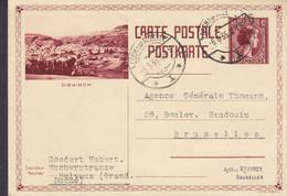 Luxembourg Postal Stationery Ganzsache Entier Diekirch Cachet 40c. Charlotte ESCH-SUR-ALZETTE 1935 BRUXELLES Belgium - Stamped Stationery