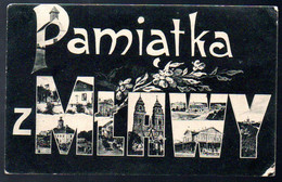 Old Postcard, Polska, PAMIATKA Z MLAWY, MLAWA, Masowien, Used 1915 - Polonia