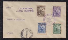 Paraguay 1943 FDC Cover ACUNSION To PILAR Mi# 544-47 Columbus Propaganda Cancel - Paraguay