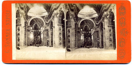 Photo Stéréoscopique - Italie - Rome - San  Pietro N° 98 ( G.  Sommer  à  Naples ) ( I  196) - Stereoscopic