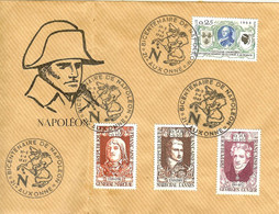 BICENTENAIRE 2ème CENTENAIRE DE NAPOLEON 21 AUXONNE GENERAL MARCEAU MARECHAL LANNES GEORGES CUVIER 1969 - Napoleon