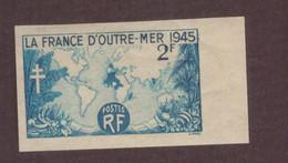 France Non Dentelé 1945 N°741 Neuf** La France D' Outremer Cote 30€ - Non Dentelés