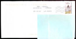 """Timbre Postal Adhésif (2020) """"Phares, Repères  De Nos Côtes, Phare Des Sanguinaires"""" Seul Sur Lettre - 1961-...."""