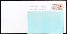 """Timbre Postal Adhésif (2020) """"Phares, Repères  De Nos Côtes, Phare De Saint Mathieu"""" Seul Sur Lettre - 1961-...."""