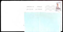 """Timbre Postal Adhésif (2020) """"Phares, Repères  De Nos Côtes, Phare De La Vieille"""" Seul Sur Lettre - 1961-...."""