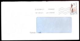 """Timbre Postal Adhésif (2020) """"Phares, Repères  De Nos Côtes, Phare Du Four Du Croisic"""" Seul Sur Lettre - 1961-...."""
