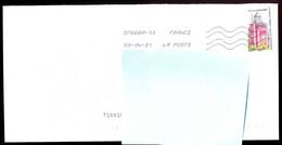 """Timbre Postal Adhésif (2020) """"Phares, Repères  De Nos Côtes, Phare De La Caravelle"""" Seul Sur Lettre - 1961-...."""