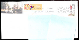 """Timbre Postal Adhésif (2020) """"Phares, Repères  De Nos Côtes, Phare De Cayeux"""" Seul Sur Lettre - 1961-...."""