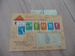 Lettre Luxembourg 6 TP Jeux Olymiques Promotion 1er Jour En Recommandé Contre Remboursement + Douane Pour La France + Ca - Covers & Documents