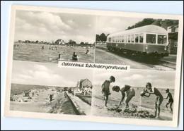 """S2573/ Ostseebad Schönebergerstrand Mit Eisenbahn """"Silberlachs"""" AK 1956 Bahnhof - Sin Clasificación"""