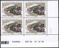 France Coin Daté N° 4685 ** (2 Tirets) Centenaire De La Pacific 231 K - Locomotive, Gare, Rail Du 03-01-12 - 2010-....