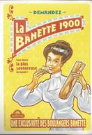 F35 Cpa /  CARTE PUB Card Cart'com CPM BOULANGERIE PAIN BAGUETTE La BANETTE 1900 - Shops