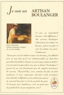 F35 Cpa /  CARTE PUB Card Cart'com CPM BOULANGERIE PAIN BAGUETTE Artisan BOULANGER - Shops